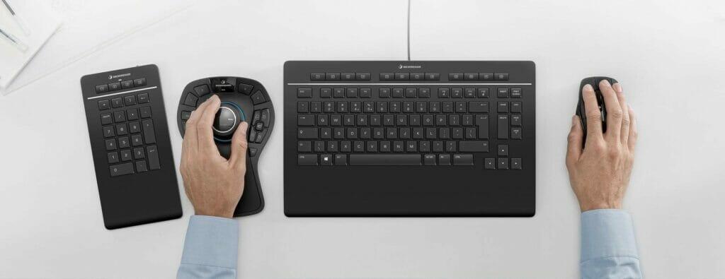 Nummernblock separat: Tastatur für CAD-Anwender