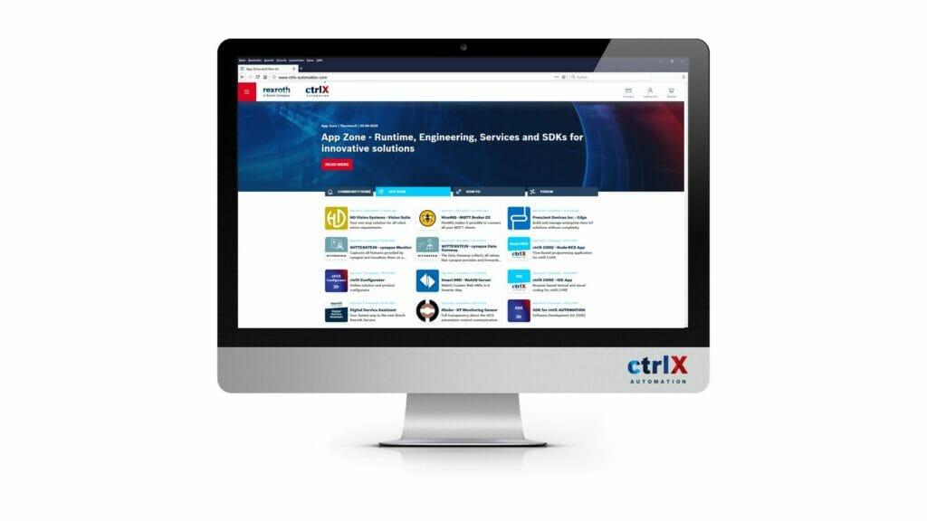 Automatisierungsplattform von Bosch Rexroth: Anwendungen im Store verfügbar