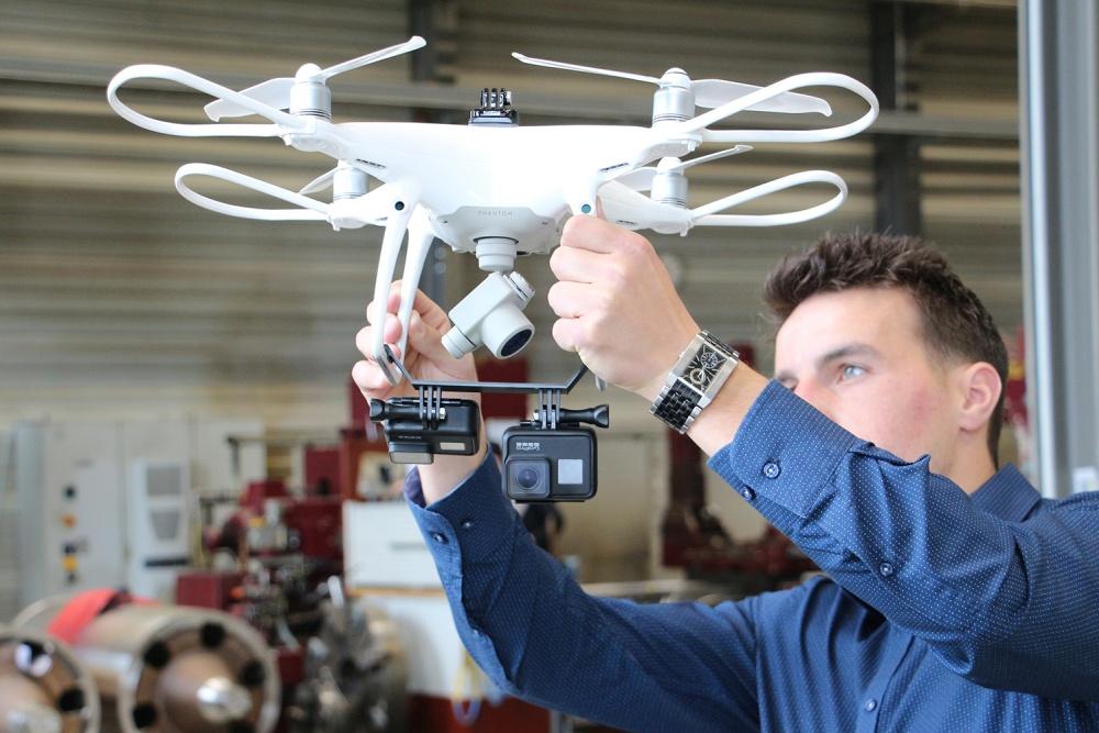 Fabriklayout mit Drohne erfassen