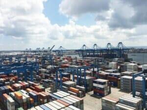 Energieführung für Hafenkran