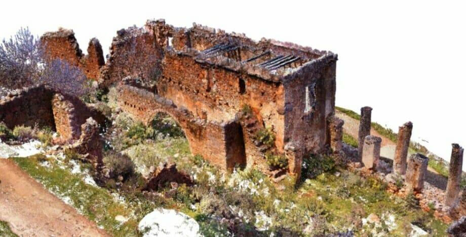 Kreta: Historisches Gebäude wird mittels Laserscanning restauriert