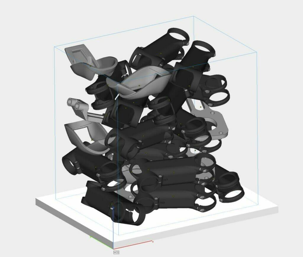 Bauteil-Nesting: Service der 3D-Druck-Plattform Weerg