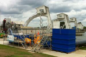 Wasserturbine zur Stromerzeugung: Der Water2Energy-Wasserturbinen-Prototyp, kurz vor dem Praxistest