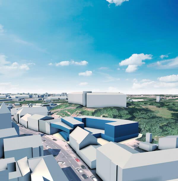Bild 1: 3D-Rendering für das Projekt Ebelsberg.