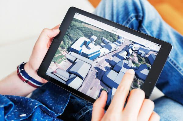 Bild 2: Das vollständige 3D-Modell der Stadt Linz im Internet.