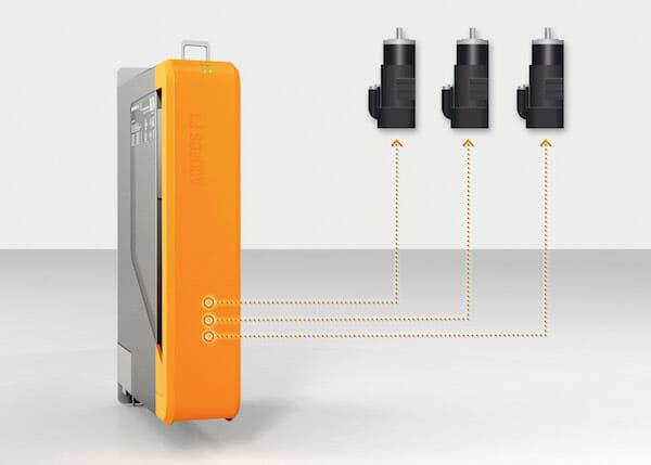 Mit dem kompakten Servoverstärker Acopos P3 lassen sich drei Achsen gleichzeitig ansteuern.
