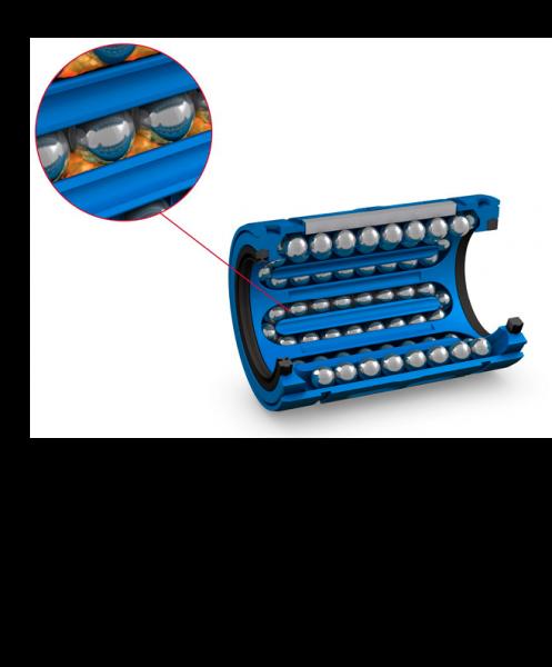 Linearkugellager der D-Serie sind werkseitig mit der optimalen Menge an SKF-LGEP2-Wälzlagerfett geschmiert und werden einbaufertig geliefert. Spezielle Schmierstoffe (zum Beispiel für die Lebensmittelindustrie) sind optional erhältlich.