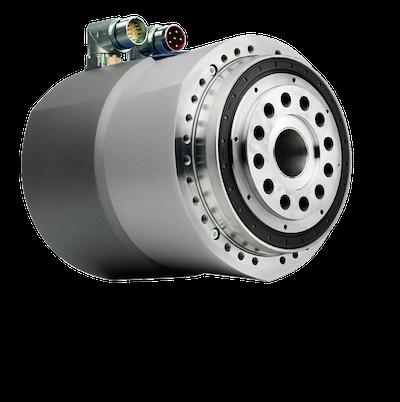 Im Galaxie-Antriebssystem verschmelzen eine völlig neuartige Getriebegattung mit dynamisierten Einzelzähnen und ein neu entwickelter Hochleistungsmotor zu einer hochkompakten Hohlwellen-Antriebseinheit mit Industrie-4.0-Konnektivität.