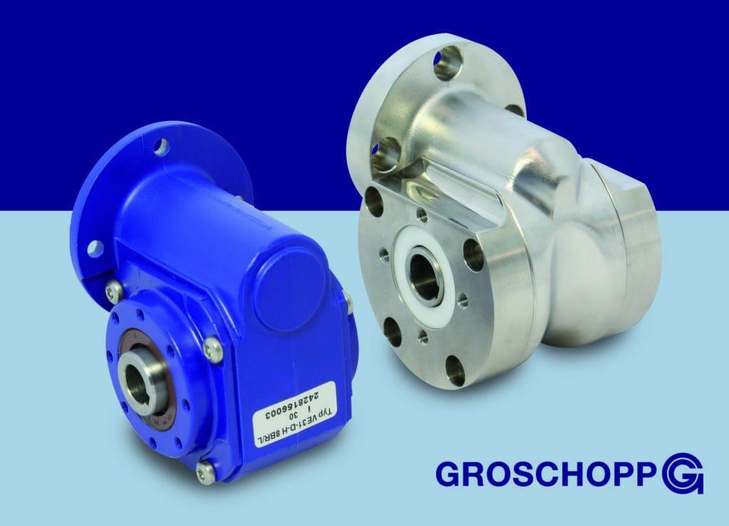 Schneckengetriebe: Modularer Aufbau und hygienisches Design