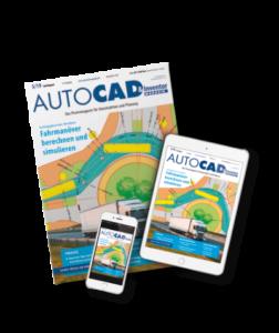 AUTOCAD Magazin als Printmagazin und auf Smartphone sowie Tablet