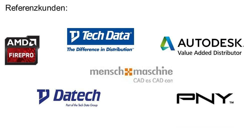 Logos von Referenzkunden