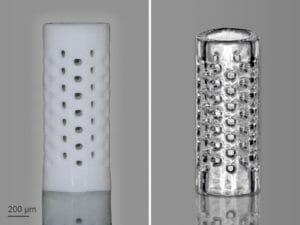 3D-Mikrofabrikation mit Glas, neuer Fotolack, Nanoscribe