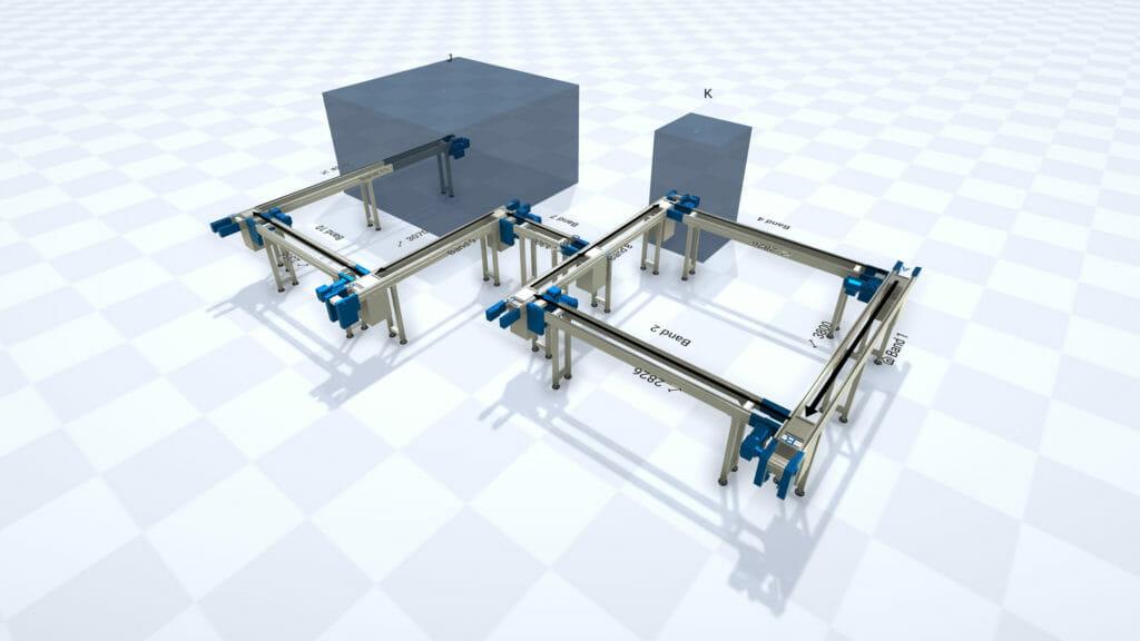 Transfersysteme in der 3D-Ansicht