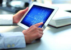 CAD-Anwendung auf einem Tablet