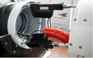 Tunnelbohrmaschine Dirt Torpedomit Elektro-Aktuatoren von Thomson